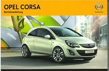 Bedienungsanleitung Opel Corsa D, Ausgabe 01/2012 (neu) #bac0112