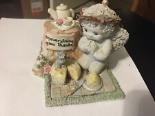 "DREAMSICLES COLLECTIBLE FIGURINE ""IN EVERYTHING GIVE THANKS"" CHERUB MOUSE TEA PA"