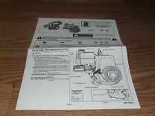 Vintage TECUMSEH  VINTAGE MINIBIKE GO KART ENGINE  MANUAL 5 PAGES H30  H35