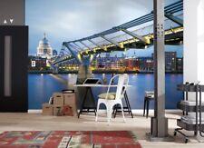 murale città di Londra a ponte Carta da parati fotografica 368x254cm Blu