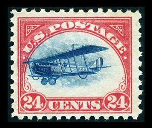 """US #C3; 24¢ CURTISS JENNY THE """"FAST PLANE"""" VARIETY"""