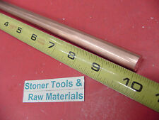 12 C110 Copper Round Rod 10 Long H04 Solid 50 Od Cu New Lathe Bar Stock