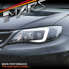 LED 3D Stripe DRL Projector Head Lights for Subaru Impreza 07-13 - Halogen type