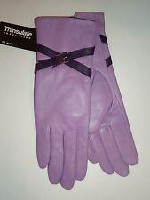Ladies Women's Crisscross Strap Genuine Leather Gloves ,L, Purple