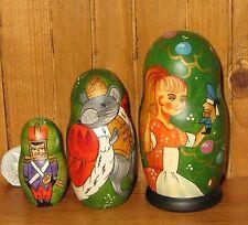 Russian Matryoshka Nesting dolls Small 3 FAIRY TALE Nutcracker CHRISTMAS