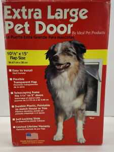 Ideal Pet Products 10.5 x 15 in Extra Large Original Frame Dog Door NOB