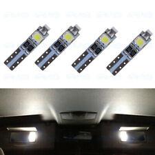 4 x 6000K White T5 37 74 Interior LED Visor Vanity Mirror Footwell Light Bulbs