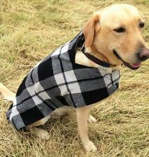 Brand NEW Hand Made in Tweed Cane Cappotto Grande Labrador Spaniel Paese Giacca Tartan