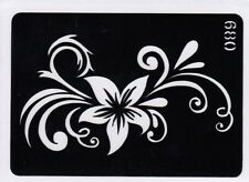GT680 Body Art Temporary Glitter Tattoo Stencil  Flowers Henna