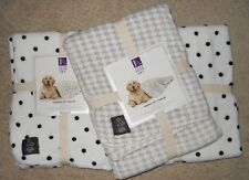 Dog Blanket Sherpa Throw Pet Bed Plus 36x48 Houndstooth Polka Dot Xmas Gift New