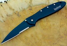 1660CKTST Leek Kershaw pocket knife  combo edge 1660 speed safe Made USA *BLEM*