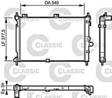 Engine Cooling Radiator VALEO Fits OPEL Astra F 1.5-1.7L 1988-1999