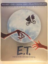 E-T-The-Extra-Terrestrial (Blu ray/DVD/) Steelbook OOP Limited-Ed New