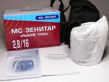 FishEye MC Zenitar 2.8/16mm Pentax-K bayonet mount.Brand NEW Lens.Blue-red box