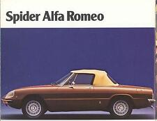 Alfa Romeo Spider 1971 - 1981 Dvd Manual, Manuals