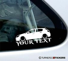 Custom Text ,LOW Vauxhall / Opel Astra H (Mk5) 5-Door CDTi, sticker / Decal