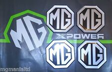 MGZR MG ZR Alloy wheel centre cap badge inserts 4 off Silver on Black