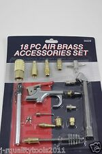 18PC Air Tool Quick Connect Brass Air Compressor Hose Accessories Tool Set