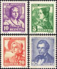 Suiza 1935 Caja de socorro/Disfraces/Ropa/Textil/Sombreros 4v Set (ch1041)