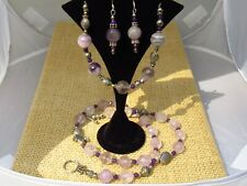 """Nancy's Necklace Amethyst 10mm Faceted Necklace, Bracelet and Earring Set  20.5"""""""
