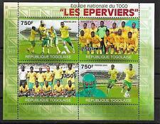 FUSSBALL/ Togo MiNr 3569/72 ** Kleinbogen