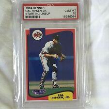 1994 CAL RIPKEN JR KENNER STARTING LINEUP CARD GRADED PSA 10 GEM MINT POP 2 RARE