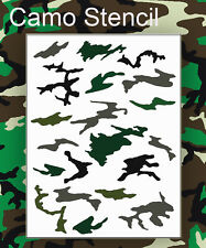 airbrush stencil Camo Woodland Camouflage Template Stencils Spray Vision