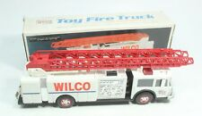 Vintage 1990 Servco Gasoline Fire Ladder Truck Toy Bank Dual Sound Battery Op