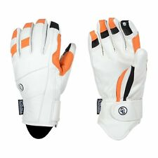 "2019-20 CANDYGRIND ""CG GLOVE"" LEATHER SNOWBOARD GLOVES HD WHITE (MEDIUM)"