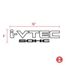 2X I-VTEC IVTEC SOHC HONDA  sticker vinyl car decal
