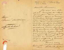 Louis de Noé, père du dessinateur Cham lettre autographe signée caricaturiste