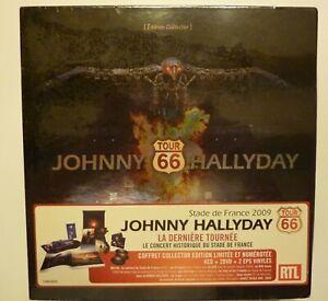NEUF coffret collector 2009 TOUR 66 JOHNNY HALLYDAY numéroté 4 CD + 2 DVD + 2 EP