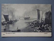 R&L Postcard: Sun Riing ona Mis, Turner, Fishing Vessels Boats, Early Card 1904