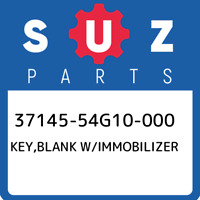 37145-54G10-000 Suzuki Key,blank w/immobilizer 3714554G10000, New Genuine OEM Pa