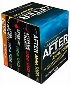The Complete After Series Collection 5 Books Box Set by Anna Todd Paperback NEW