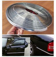 12mm / 16ft Car Bumper Strip Adhesive Auto Bright Silver Chrome Moulding Trim