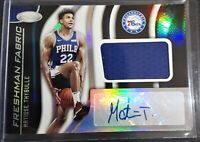 Matisse Thybulle 2019-20 Certified Freshman Fabric ROOKIE AUTO AUTOGRAPH 76ers