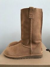UGG Classic Unlined Perforated Suede Boots 1016853 Tawny Beige Tan Size 7