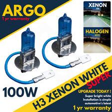 Vauxhall Corsa C Foglight 100w Bulbs 2000-06 Xenon White Front Fog light Opel