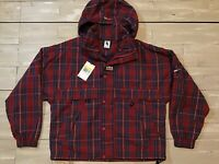 $175 MSRP Nike Plaid Striped Red USA Jacket CD6375-657 Men's Size Small