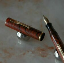 RARE STYLO WATERMAN'S PLUME 52 V RIPPLE PLUME OR 18 CTS POUR COLLECTIONNEUR H134