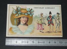 CHROMO 1900-1910 CHOCOLAT LOMBART AU FIDELE BERGER COSTUMES LOUIS XV