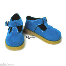 MSD DOC 1/4 bjd Obitsu 60cm Doll Luts Kid Mary Jane Velvet Shoes Maryjane Blue