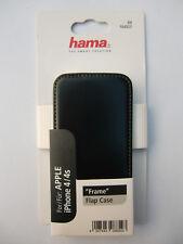 Apple iPhone 4/4s Flap Case / Leder-Handytasche Frame -schwarz- Smart 00104527