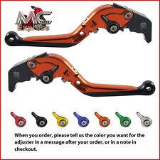 Folding Extendable Adjustable Levers Yamaha FZ1 FAZER 2001 - 2005 Orange