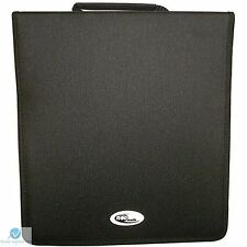1 X Neo Media 240 Capacity CD DVD Wallet Leather Storage Carry Case Ring Binder