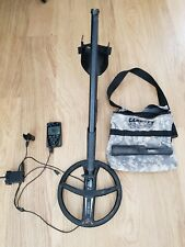 Xp deus metal detector with headphones, pointer and finds bag.