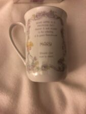 """Vintage 1989 Precious Moments Personalized """"Mary"""" Coffee Mug Cup"""