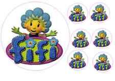 Fifi and the flowertots cake topper approx 16.5cm  with 6 4.5cm cupcake  ICING