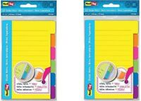 "Redi-Tag Divider Sticky Notes, 60 Ruled Notes, 4 X 6"", Assorted Neon Colors 2pks"